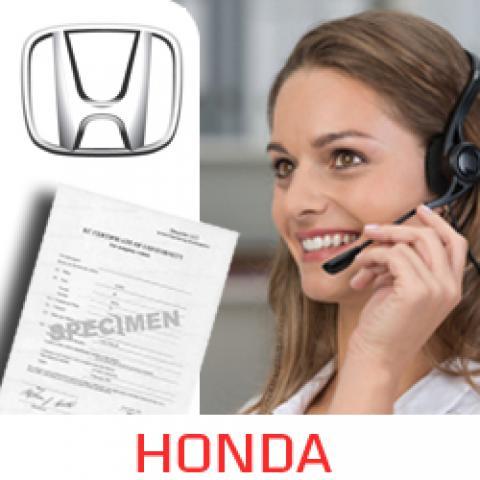 Service Homologation Honda
